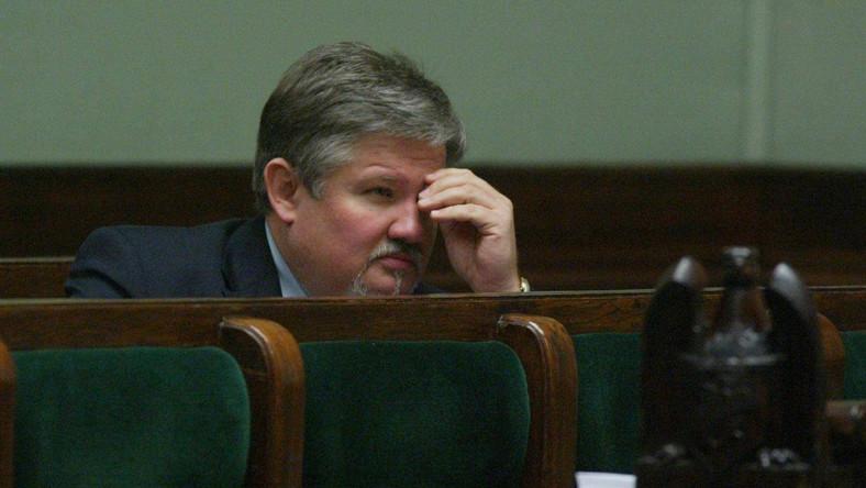 Mariusz Łapiński w Sejmie (zdjęcie z 2002 roku)