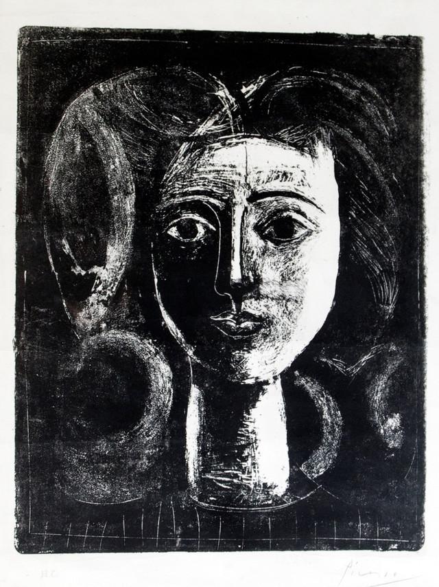 Pablo Pikaso, Glava devojke, 1947.