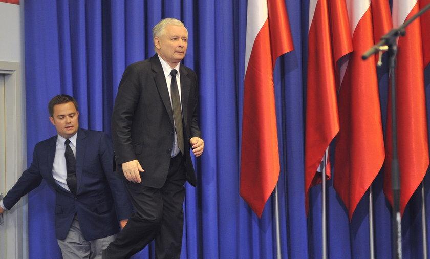 Adam Hofman i Jarosław Kaczyńśki