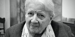 Anna Koźmińska nie żyje. Miała 101 lat. W czasie wojny uratowała żydowskiego chłopca