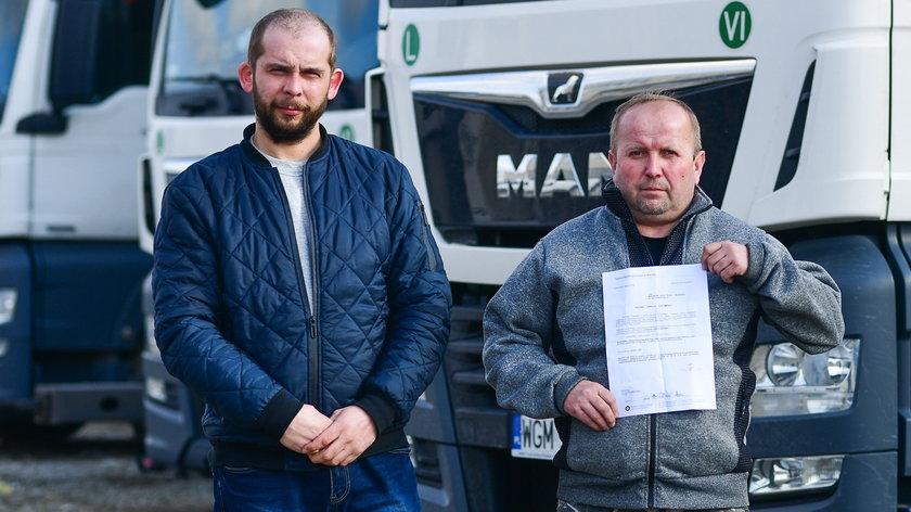 Zawodowi kierowcy stracili prawa jazdy