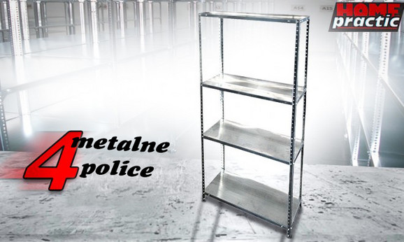 Metalna polica sa četiri pregrade