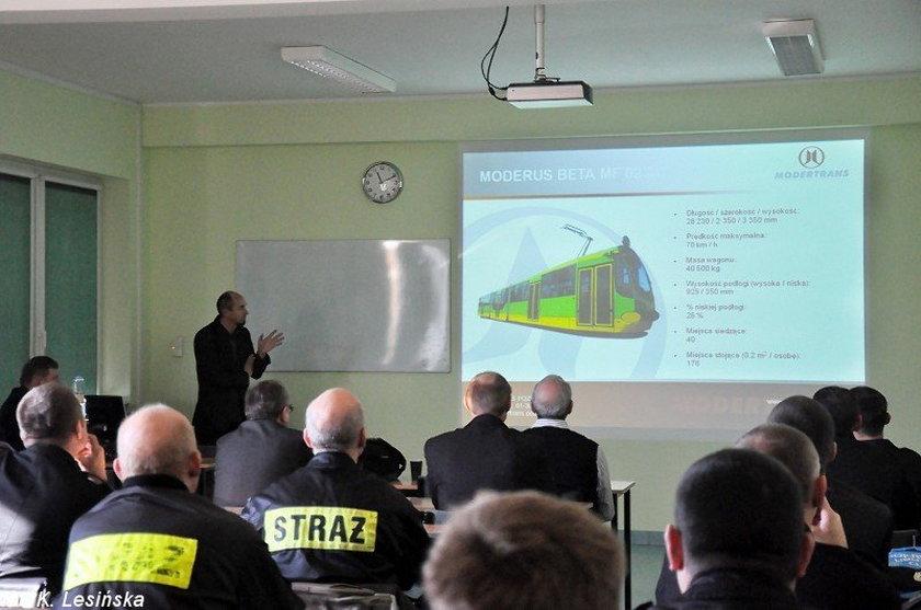 Szkolenie strażaków i pracowników MPK