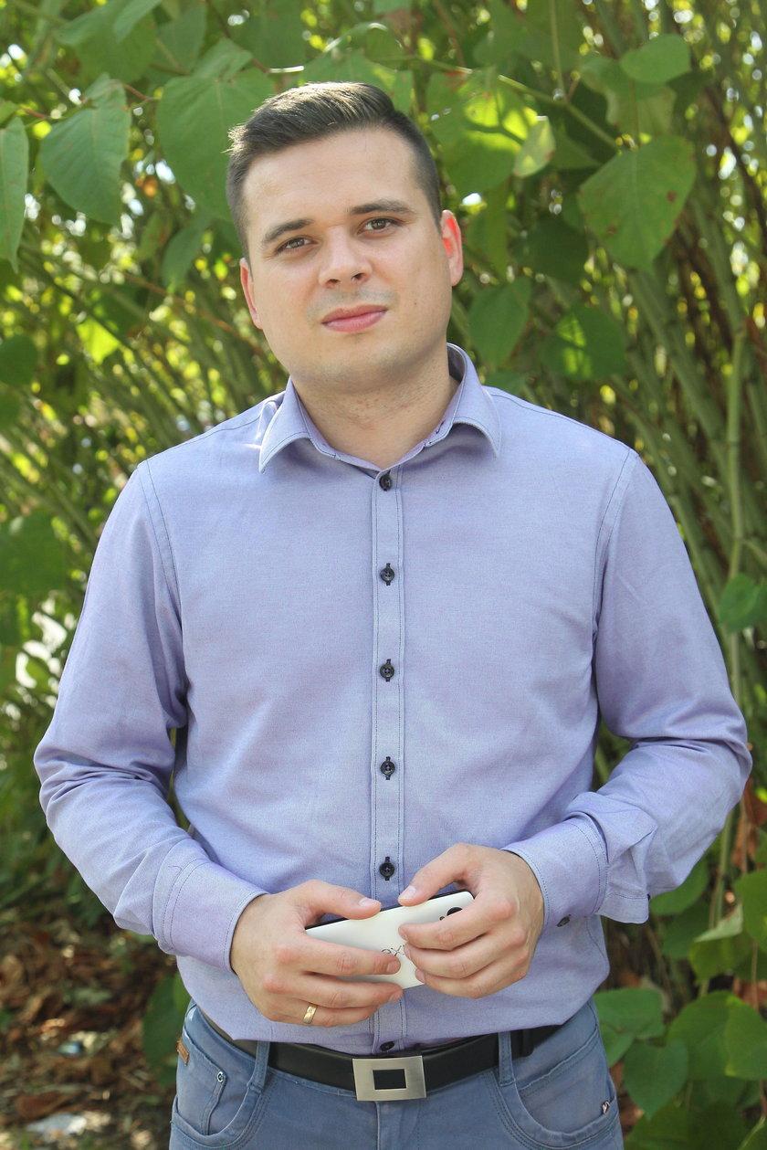 Mariusz Gruza (34 l.), rzecznik Woli