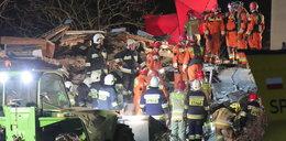 Przez potężny wybuch zawalił się dom we Włodzimierzowie. Pod gruzowiskiem byli ludzie