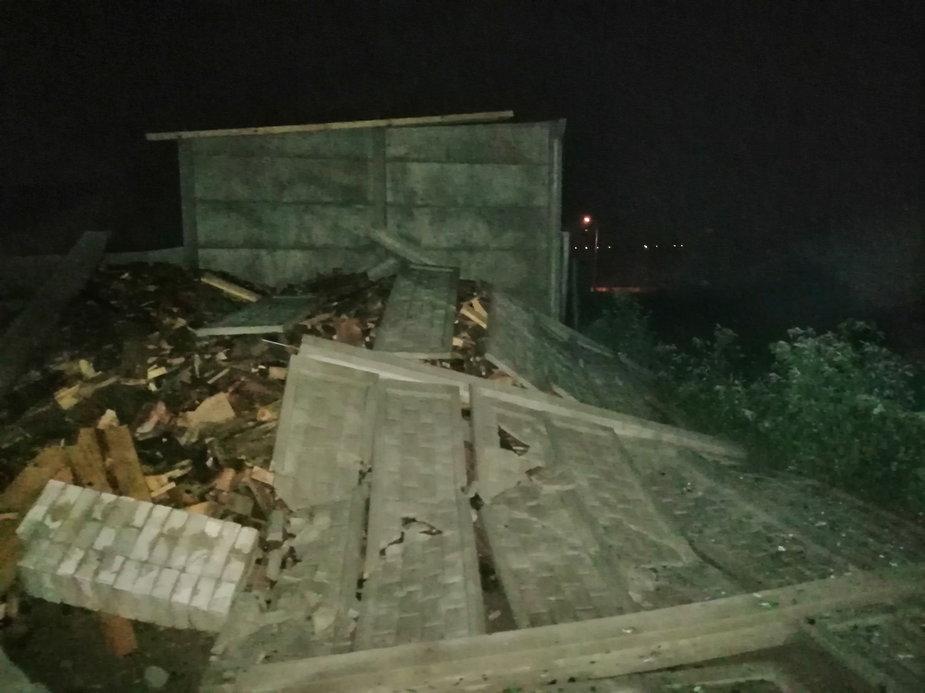 Zniszczenia w Gminie Wierzchlas