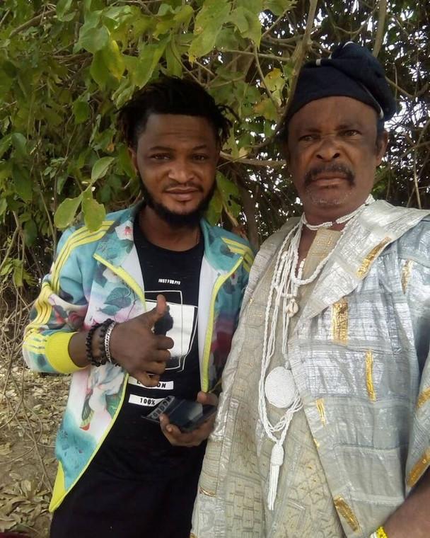 Dagunro and son, Jamiu are popular faces in Nollywood movies. [Instagram/Dagunro olabankewin]