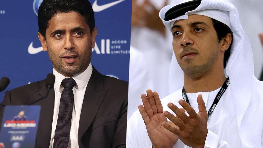 Nasser Al-Khelaifi i Mansour bin Zayed Al Nahyan