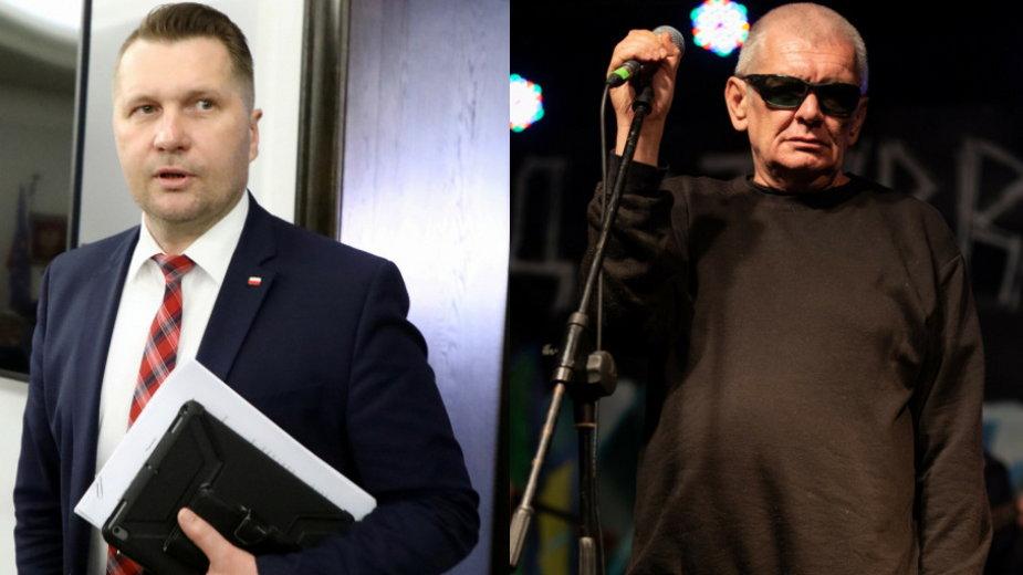 Przemysław Czarnek (fot. Piotr Molecki/East News) i Marcin Świetlicki