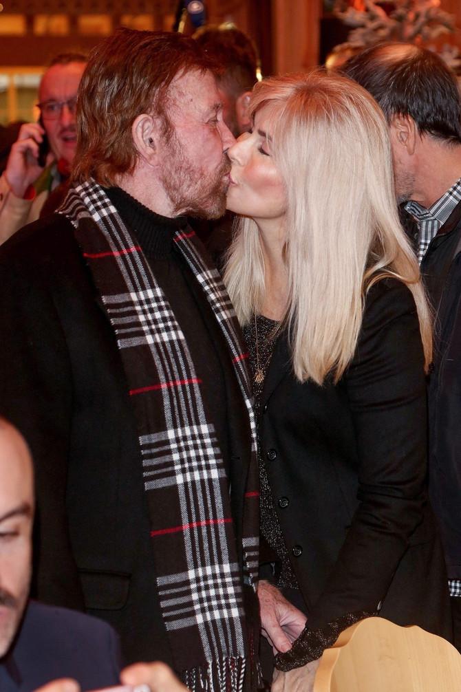 Čak Noris sa suprugom Džini