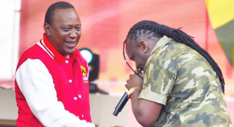 President Uhuru Kenyatta with Kriss Darlin. Reggae DJ Kriss Darlin to vie for Kibra Seat