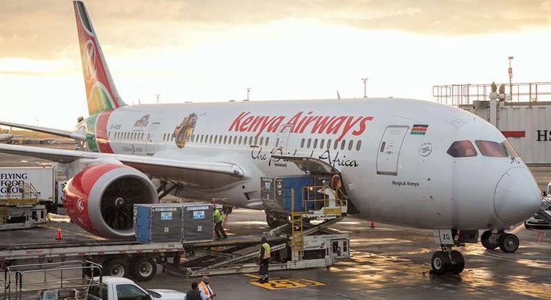 File image of a Kenya Airways Boeing 787 Dreamliner