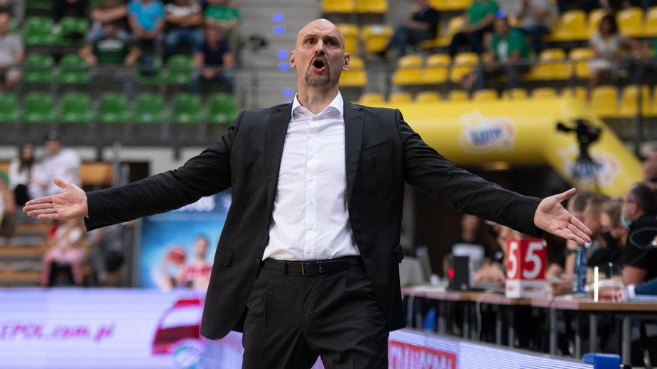 Żan Tabak, trener Stelmetu Enea Zielona Góra.