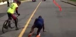 Dramat maratończyka. Był liderem, padł 300 metrów przed metą! WIDEO