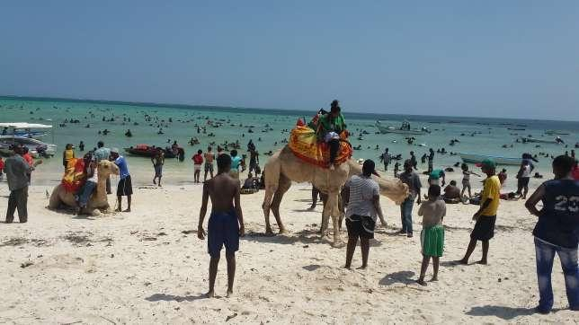 Tourists at Pirates beach, Mombasa. (Baraka FM)