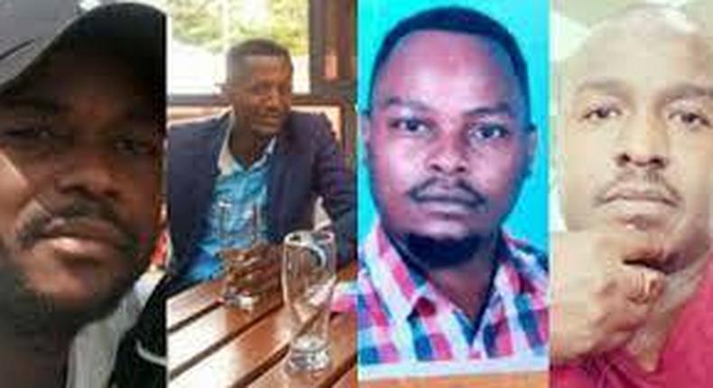 Elijah Obuong, Benjamin Amache Imbai, Brian Oduor, Jack Ochieng who disappeared from Kitengela on April 19, 2021