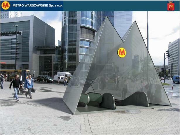 II linia metra w Warszawie - stacja Rondo ONZ.