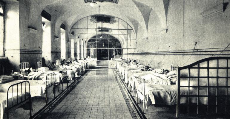 Oddział szpitala, gdzie leczono syndrom K