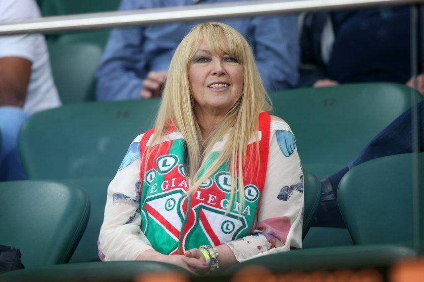 Maryla Rodowicz na meczu Legii