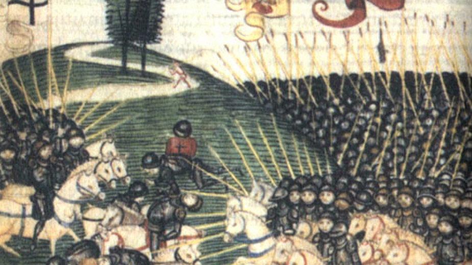 Bitwa pod Grunwaldem (1410) według XV-wiecznej miniatury Diebolda Schillinga – fot. domena publiczna