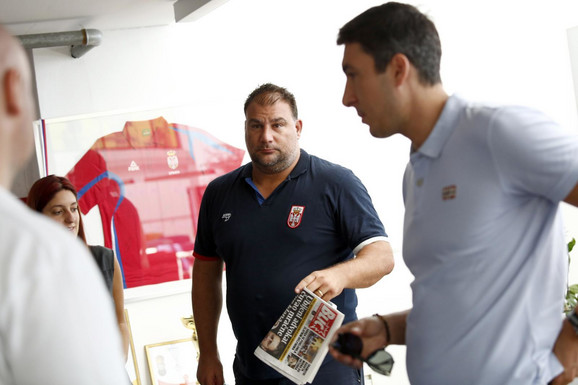 Dejan Savić i Stefan Mitrović prilikom posete
