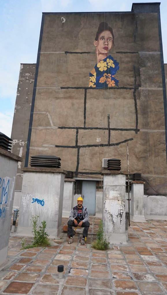 Mural je delo našeg poznatog grafiti umetnika Andreja Žikića Arteza.