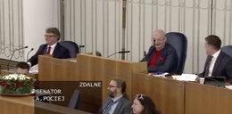 Wpadka senatora podczas łączenia na żywo. Śmiechu było sporo!