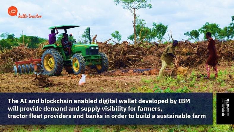 The AI and blockchain enabled digital waller developed by IBM is going to change how African farmers farm