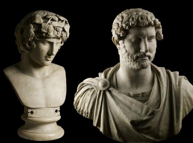 Statue Antinoja (130-140. god) i cara Hadrijana (117-118. god)