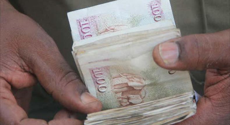 File Image of A bundle of Ksh1,000 notes