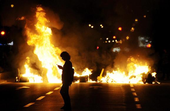 Nasilje na protestima na ulicama Skoplja