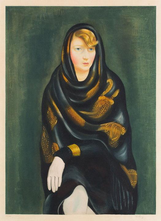 """Wystawa i aukcja """"Grafika artystyczna. Sztuka Dawna"""". Mojżesz Kisling, """"Portret Denyse le Bec (tzw. Sonia)"""" (ok. 1927)"""