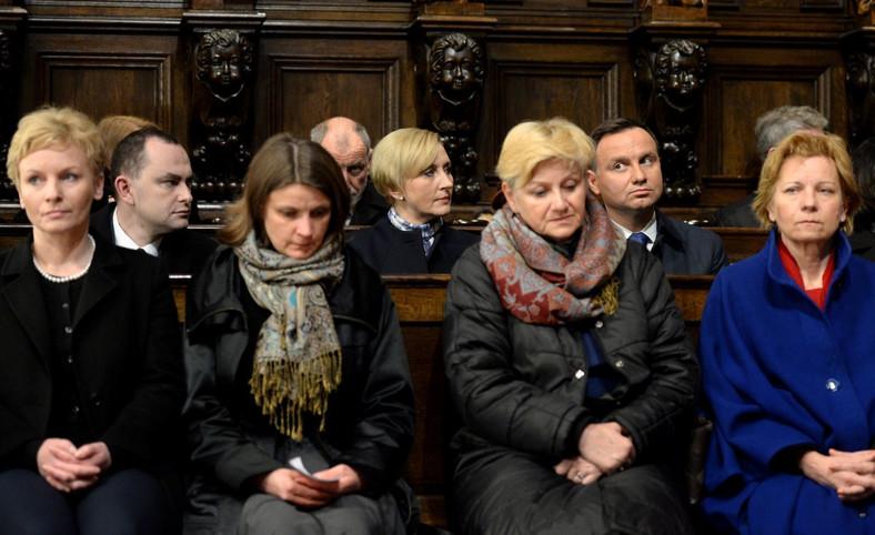 Prezydent Andrzej Duda z małżonką Agatą Kornhauser-Dudą podczas koncertu Chóru Archikatedry Warszawskiej