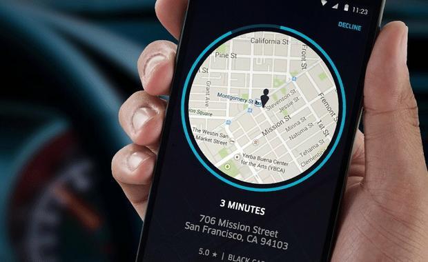 Usługa Uber, fot. Uber