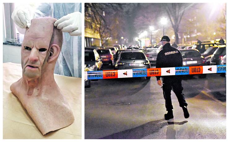 Pucač nosio silikonsku masku preko glave