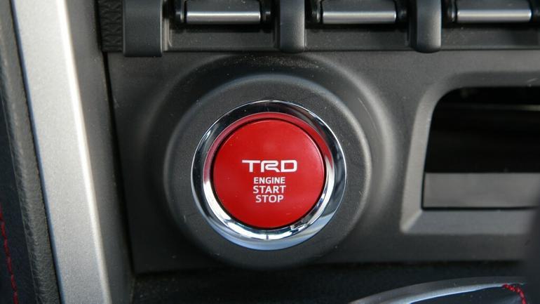 Toyota GT 86, przycisk Start