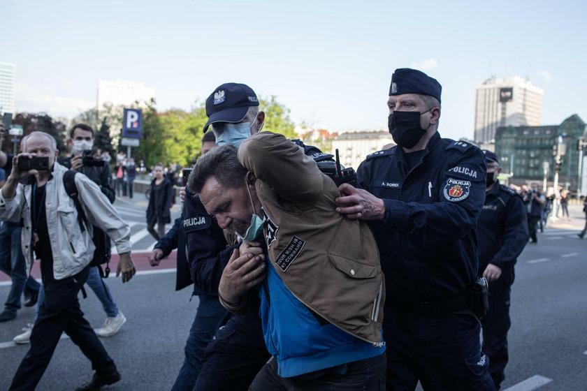 Protesty na ulicach Warszawy