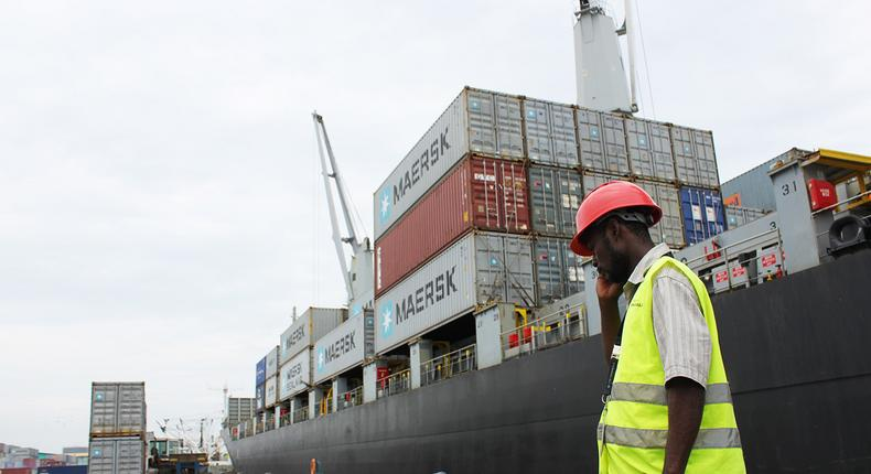 Worker at one of Nigeria's port centres (apmterminals)