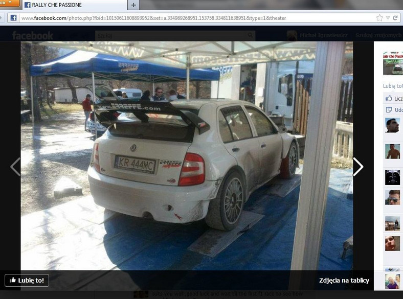 Skoda Fabia WRC Roberta Kubicy