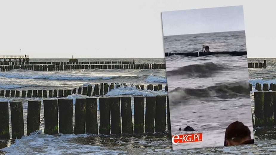 Mężczyzna spadł z falochronu w Ustroniu Morskim
