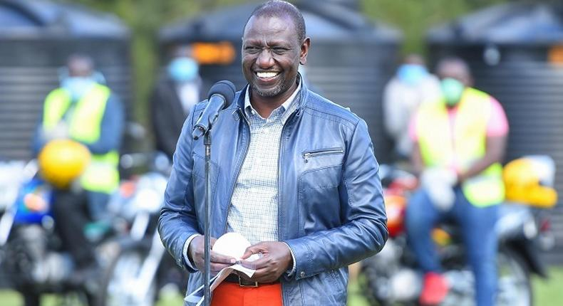 Deputy President William Ruto during a recent function at his official residence in Karen, Nairobi