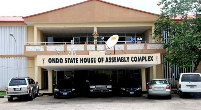 Some thugs have invaded the Ondo House of Assembly