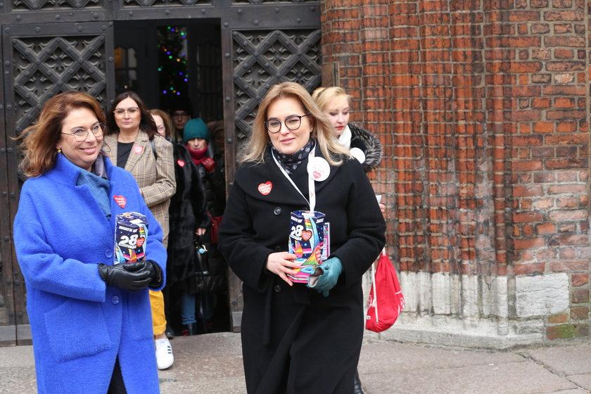 Magdalena Adamowicz kwestuje w Gdańsku. Towarzyszy jej Małgorzata Kidawa-Błońska