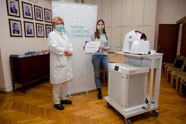 Prof dr Danica Grujičić, vd direktora Instituta za onkologiju i radiologiju Srbije i Maja Kremić