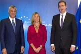 Aleksandar Vučić, Federika Mogerini, Hašim Tači