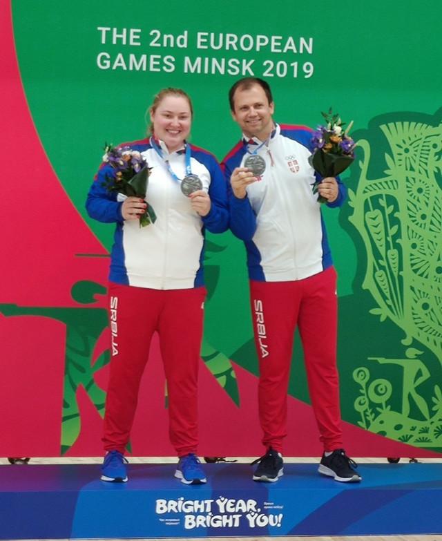 Zorana Arunović i Damir Mikec slave uspeh u Minsku