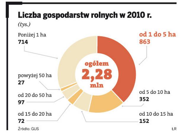 Liczba gospodarstw rolnych w 2010 r.