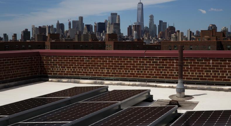Rooftops mark city's foray into solar