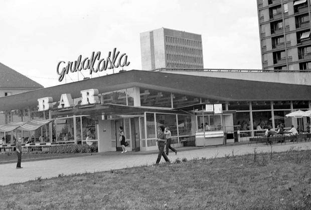 """Bar samoobsługowy """"Gruba Kaśka"""" w Warszawie, rok 1969"""