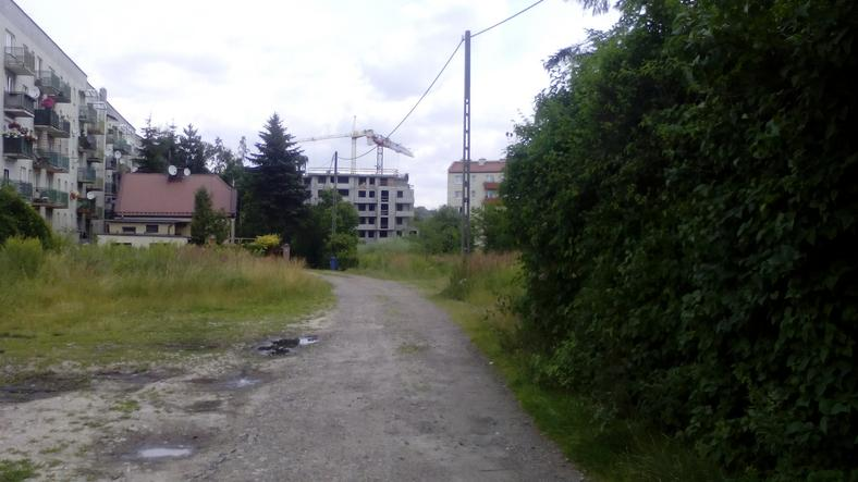 W tym miejscu mogłaby przebiegać alternatywna droga do osiedla